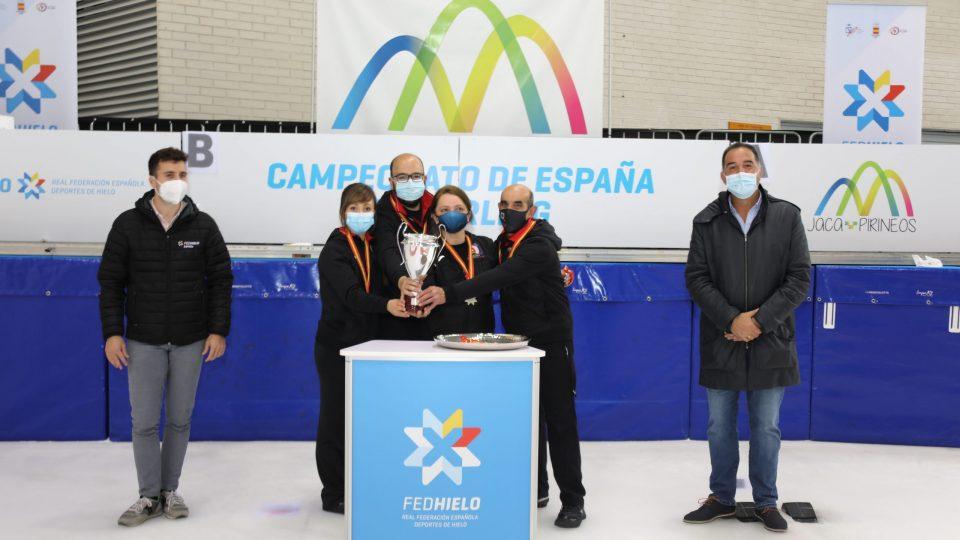 El Curling Club Hielo Jaca, plata en el Campeonato de España Mixto