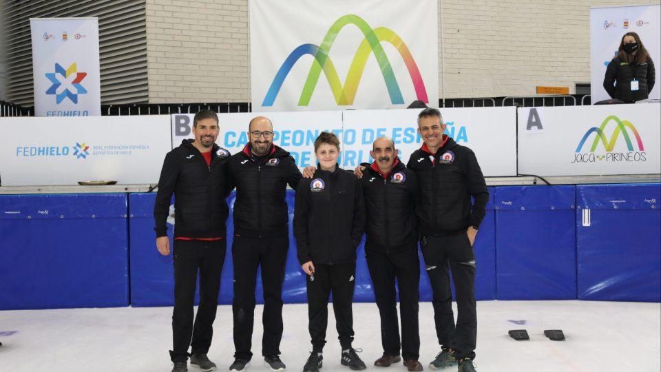 El Curling Club Hielo Jaca logra un meritorio cuarto puesto en el Campeonato de España Masculino