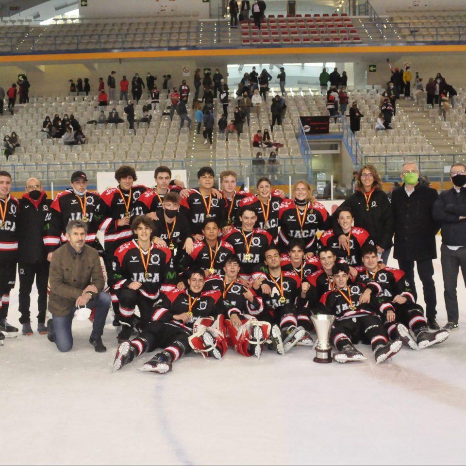 El equipo Sub 18, campeón de Liga